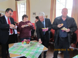 Ringers enjoy the traditional ringers tea